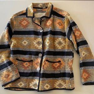 JANE ASHLEY Southwest Tapestry Jacket coat